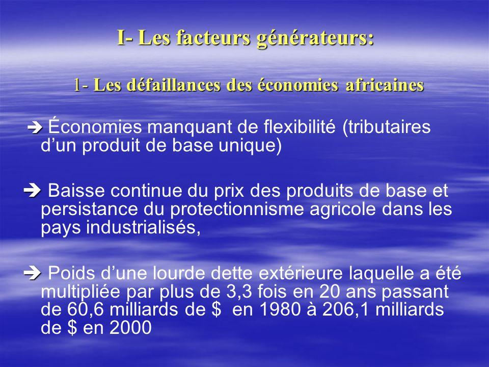 I- Les facteurs générateurs: