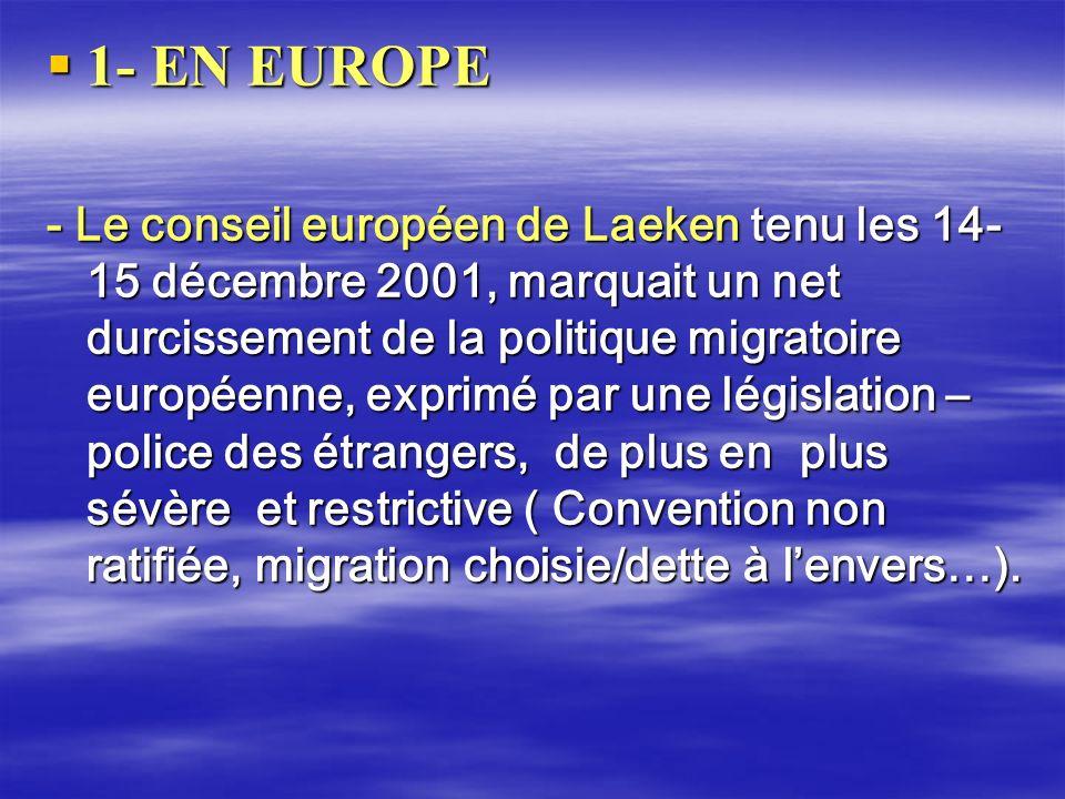 1- EN EUROPE
