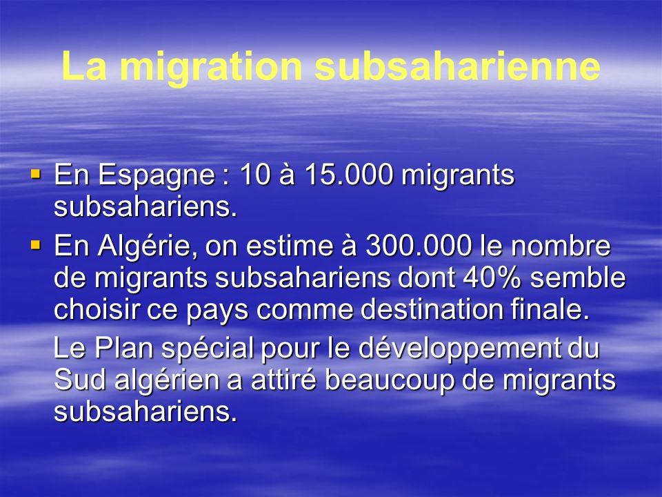 La migration subsaharienne