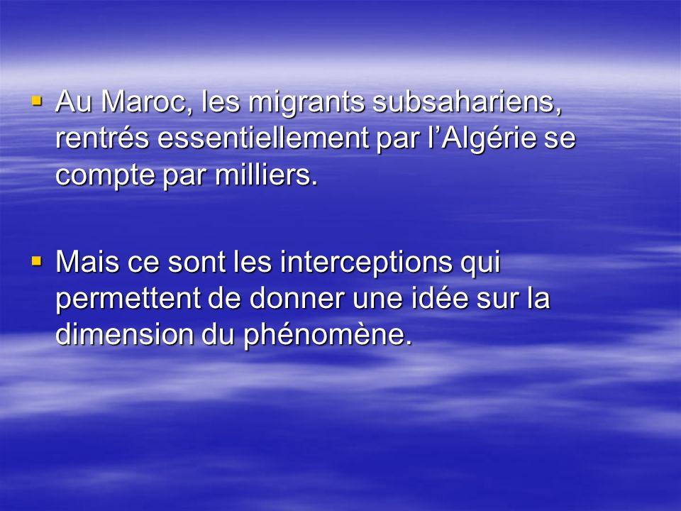 Au Maroc, les migrants subsahariens, rentrés essentiellement par l'Algérie se compte par milliers.