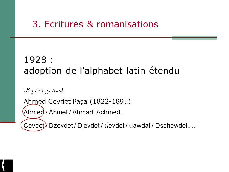 3. Ecritures & romanisations