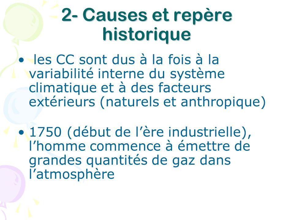 2- Causes et repère historique