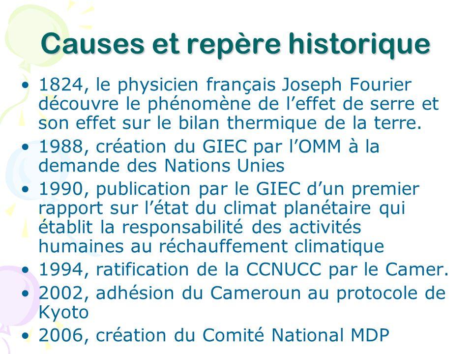 Causes et repère historique
