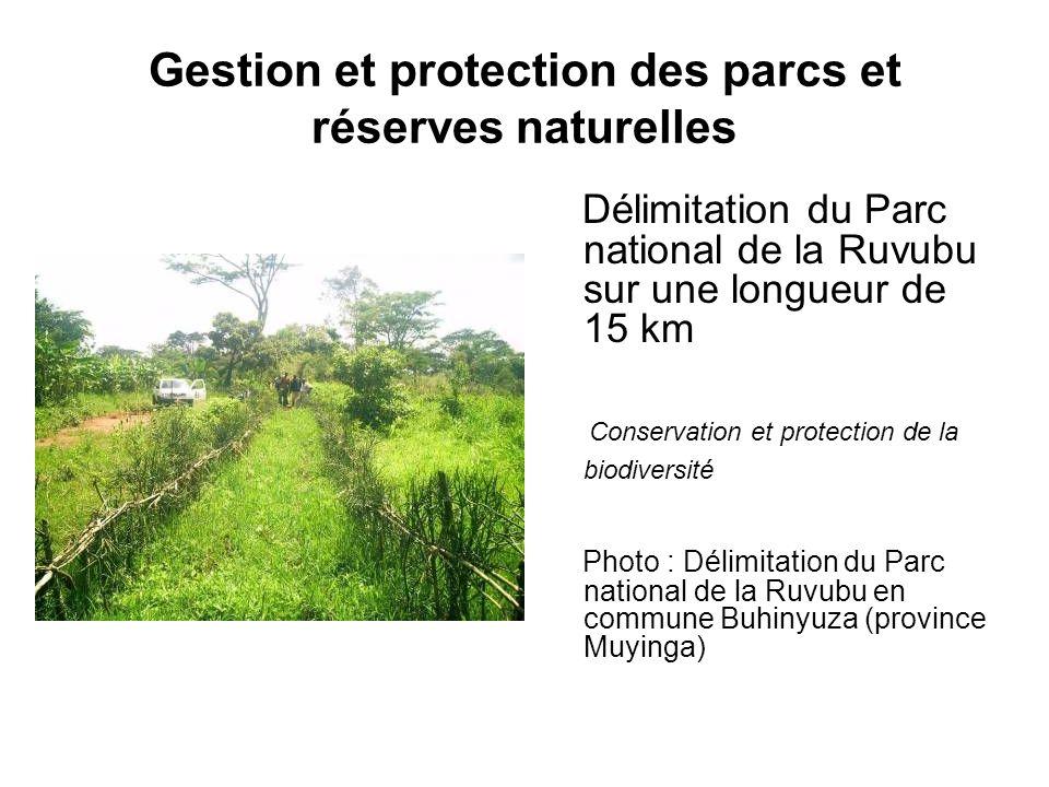 Gestion et protection des parcs et réserves naturelles