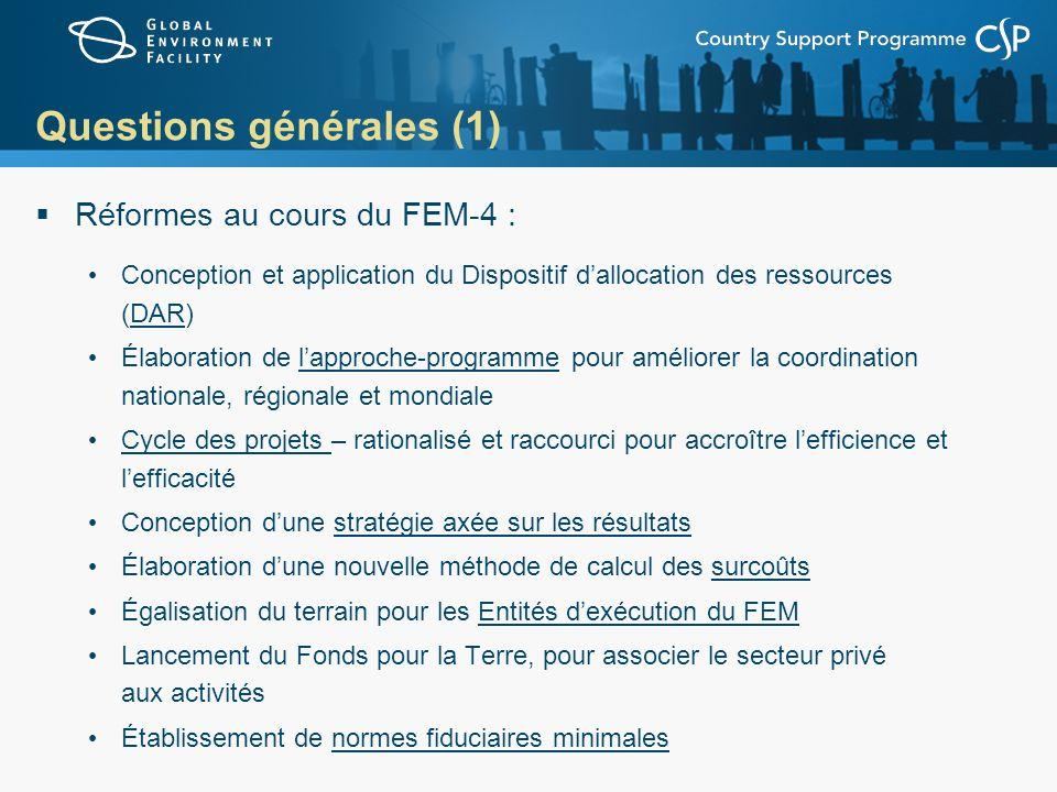 Questions générales (1)