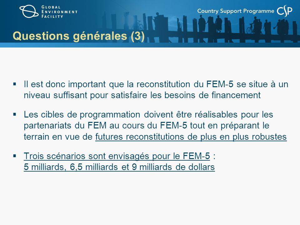 Questions générales (3)