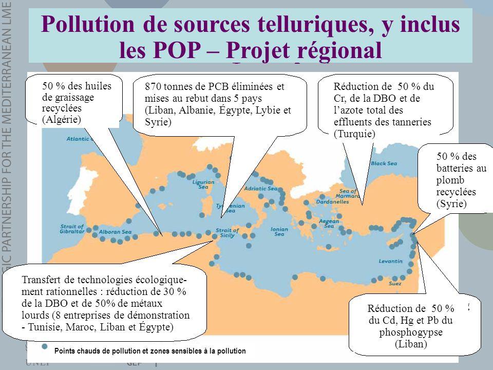 Pollution de sources telluriques, y inclus les POP – Projet régional