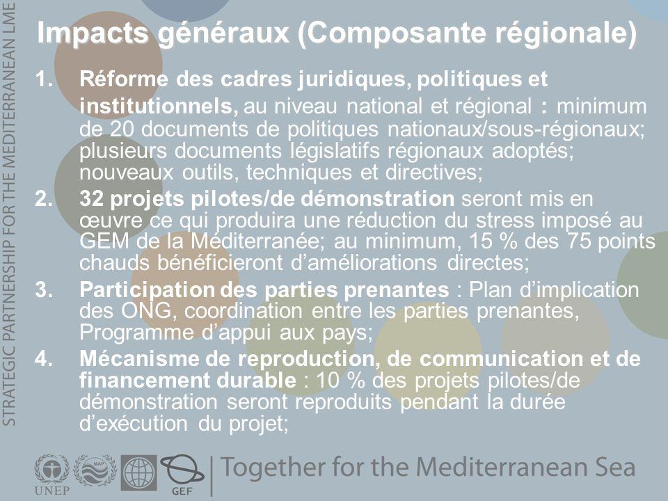 Impacts généraux (Composante régionale)
