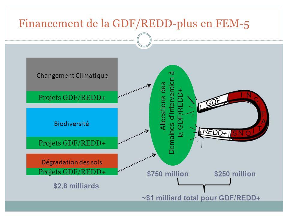 Financement de la GDF/REDD-plus en FEM-5