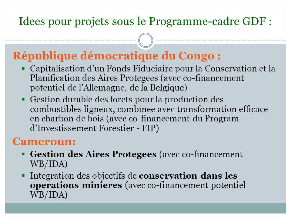 Idees pour projets sous le Programme-cadre GDF :