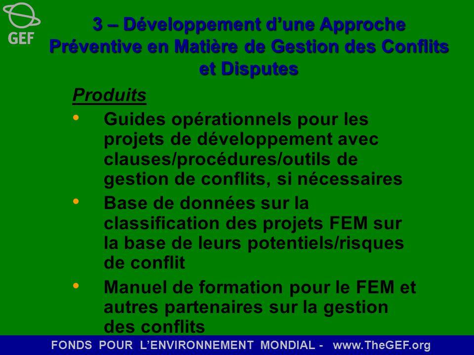 3 – Développement d'une Approche Préventive en Matière de Gestion des Conflits et Disputes