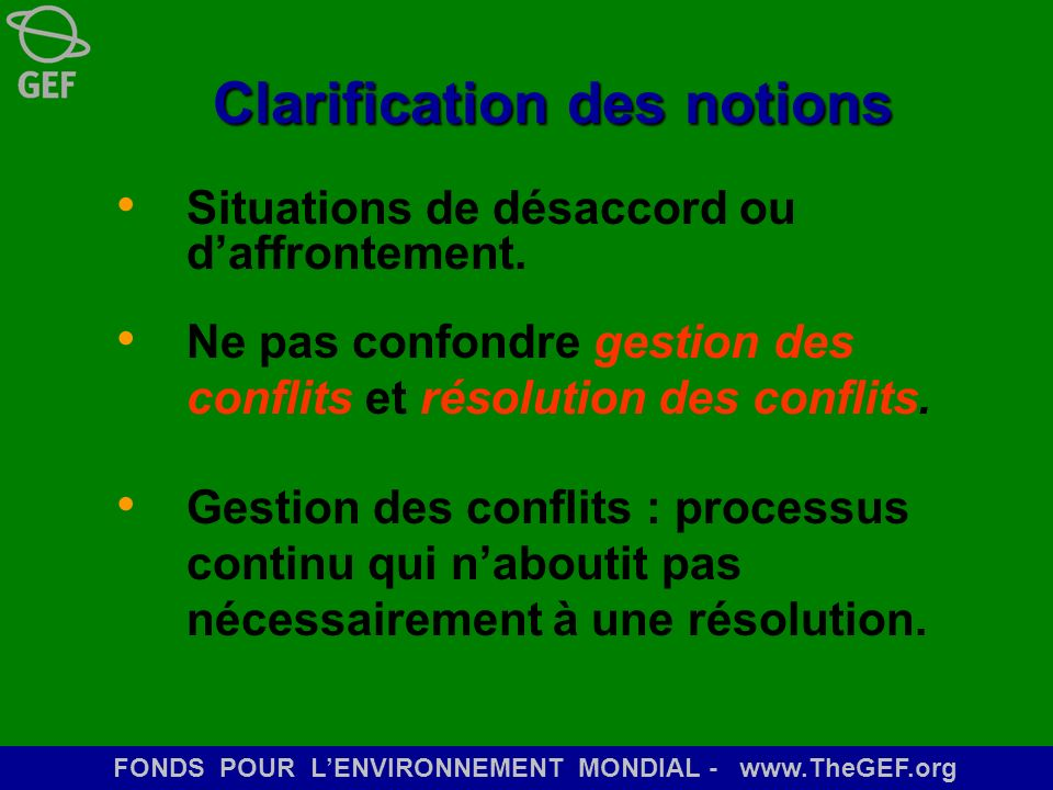 Clarification des notions