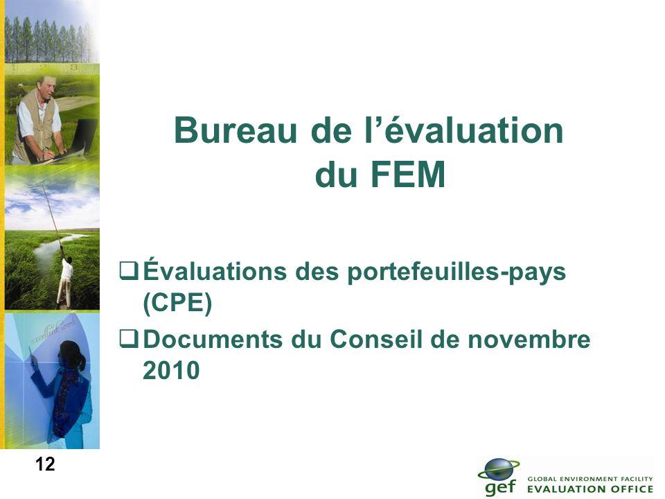 Bureau de l'évaluation du FEM