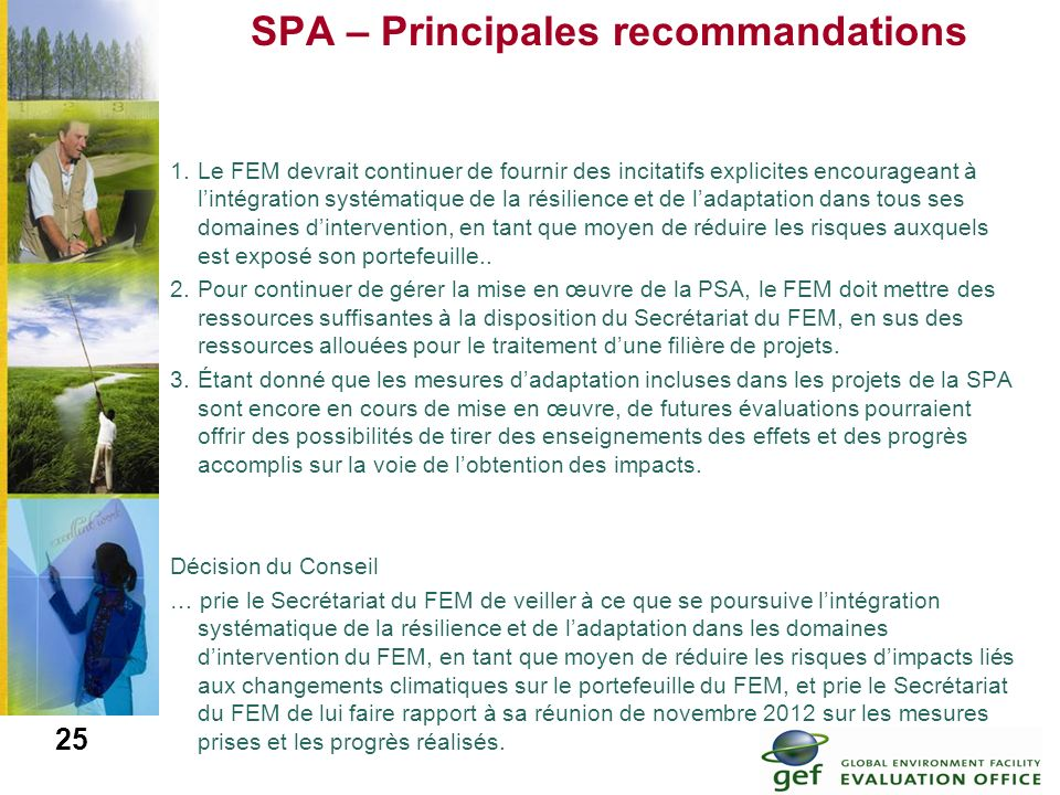 SPA – Principales recommandations