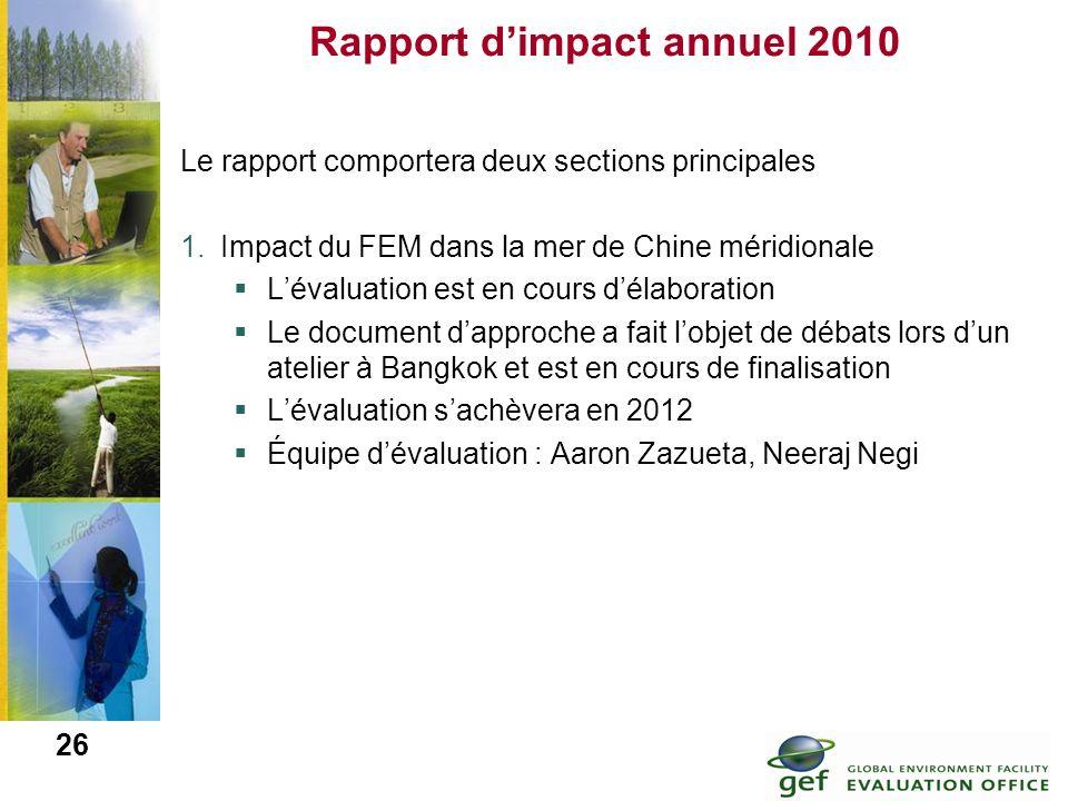 Rapport d'impact annuel 2010