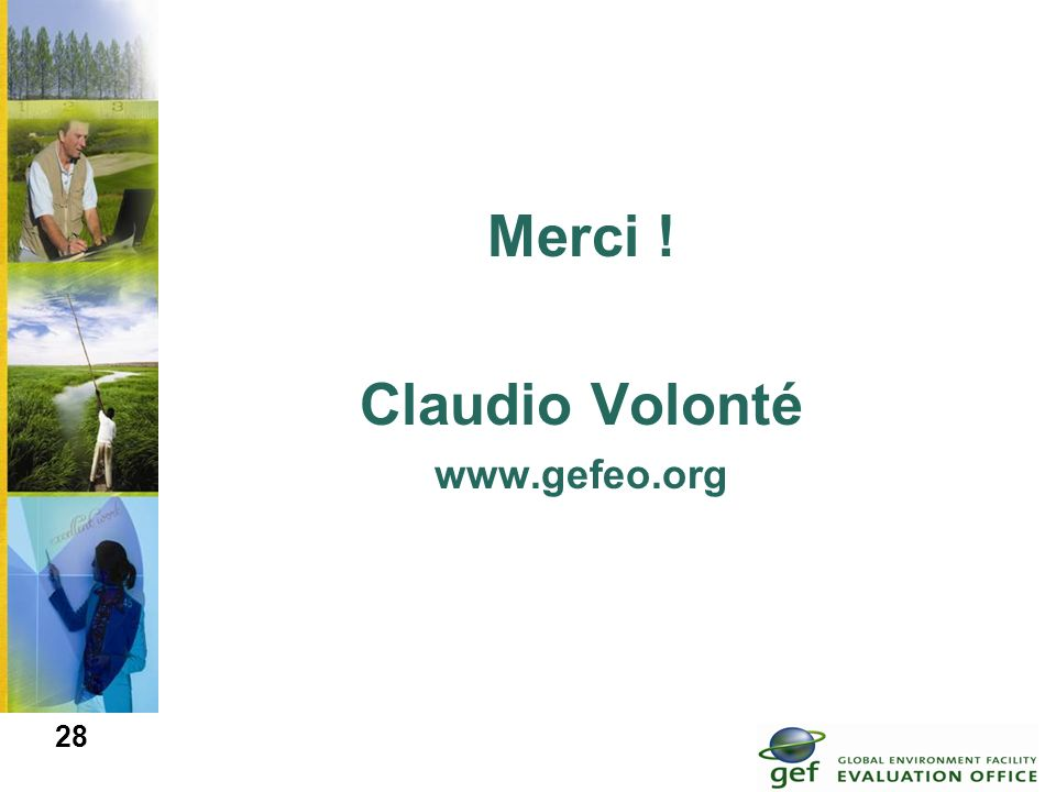 Merci ! Claudio Volonté www.gefeo.org