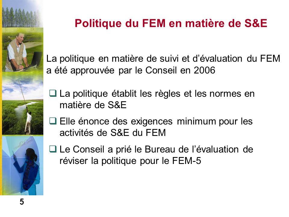 Politique du FEM en matière de S&E