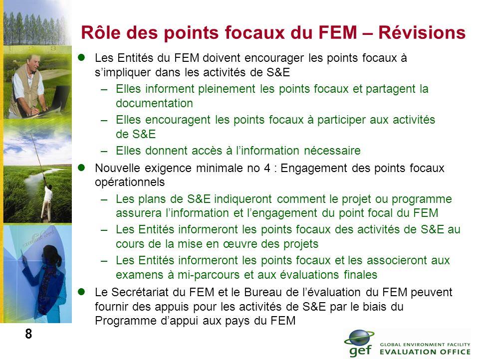 Rôle des points focaux du FEM – Révisions