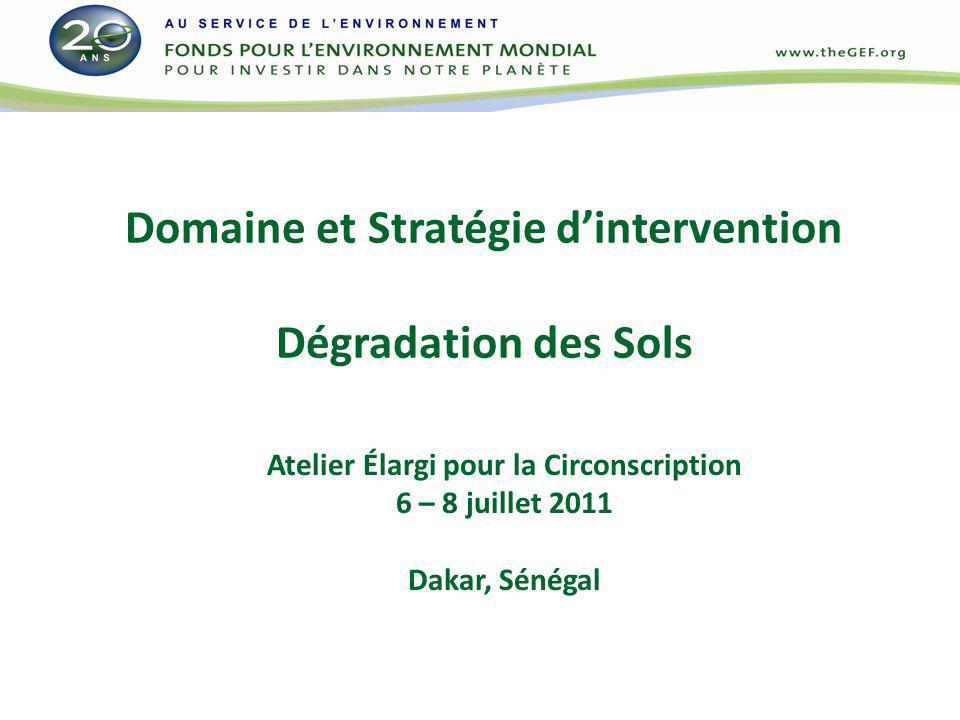 Domaine et Stratégie d'intervention Dégradation des Sols