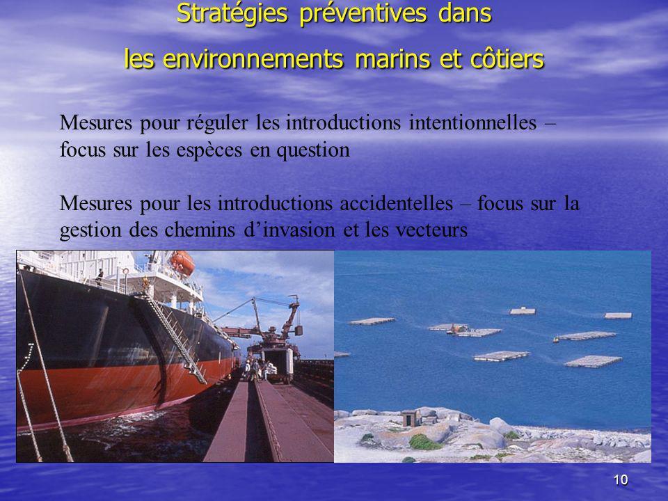 Stratégies préventives dans les environnements marins et côtiers