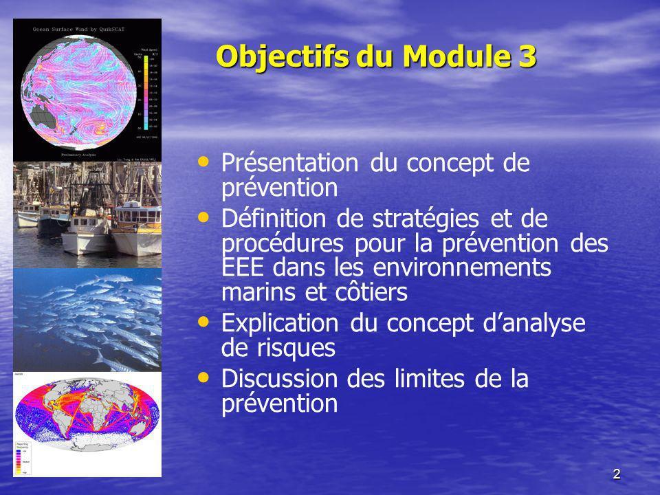 Objectifs du Module 3 Présentation du concept de prévention