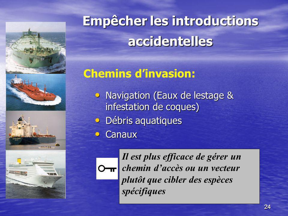Empêcher les introductions accidentelles