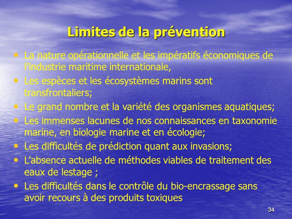Limites de la prévention