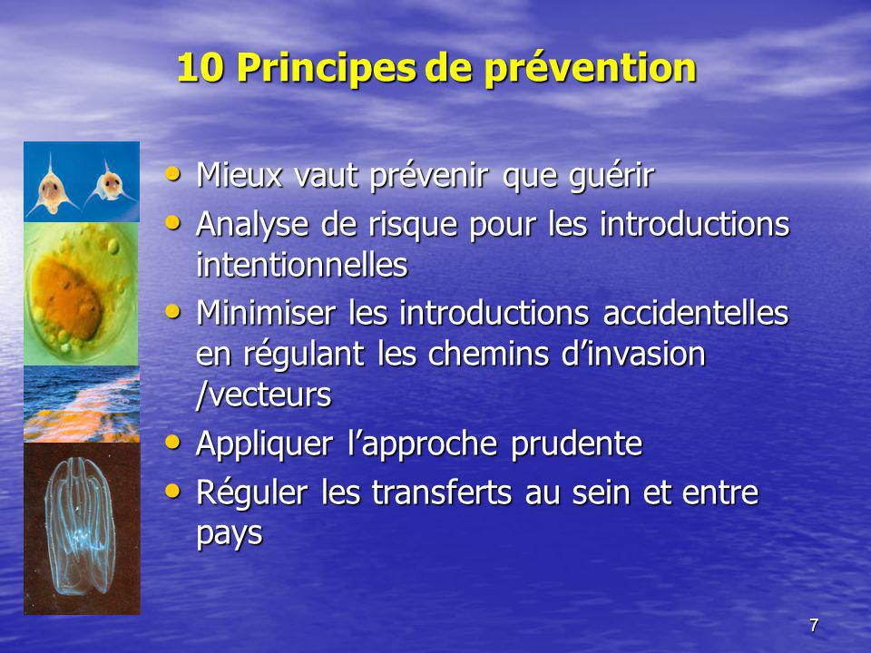 10 Principes de prévention