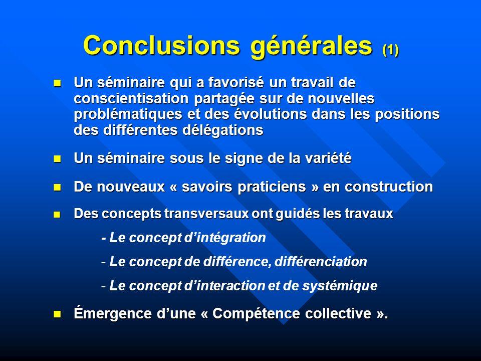 Conclusions générales (1)