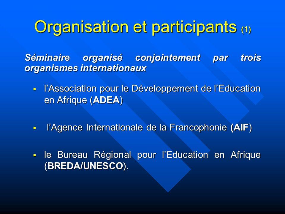 Organisation et participants (1)