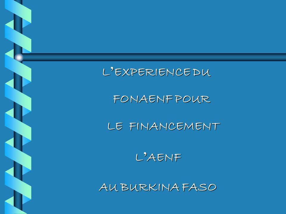 L'EXPERIENCE DU FONAENF POUR LE FINANCEMENT