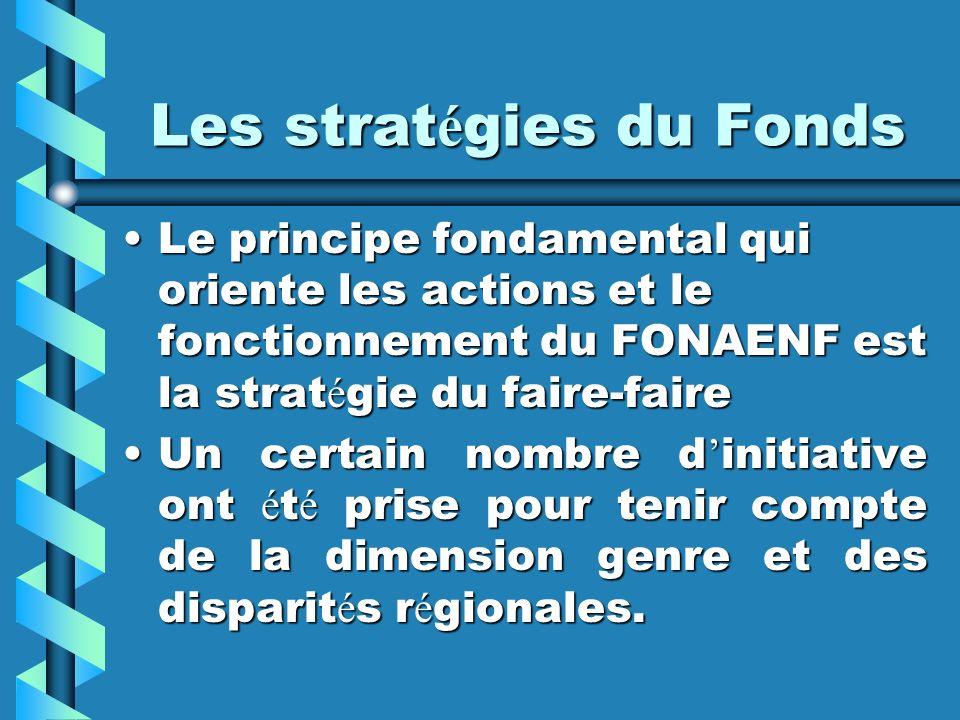 Les stratégies du Fonds