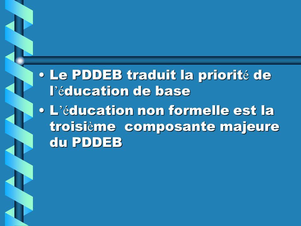 Le PDDEB traduit la priorité de l'éducation de base