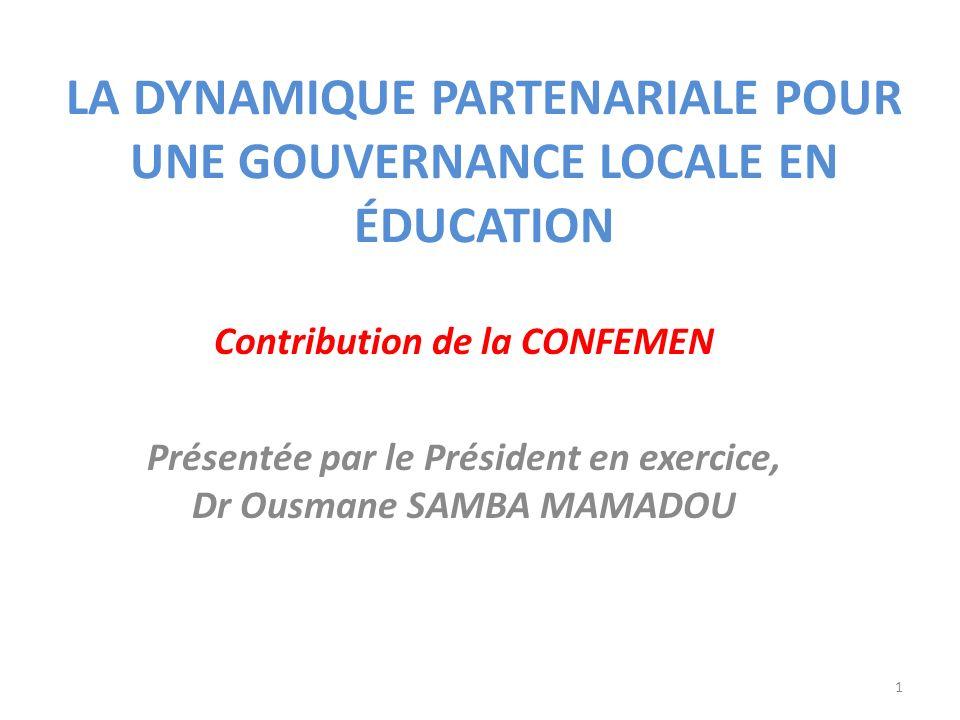 La dynamique partenariale pour une gouvernance locale en éducation