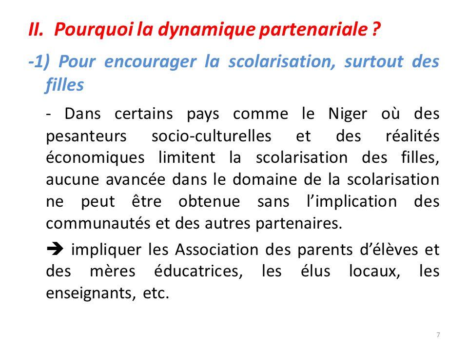 II. Pourquoi la dynamique partenariale