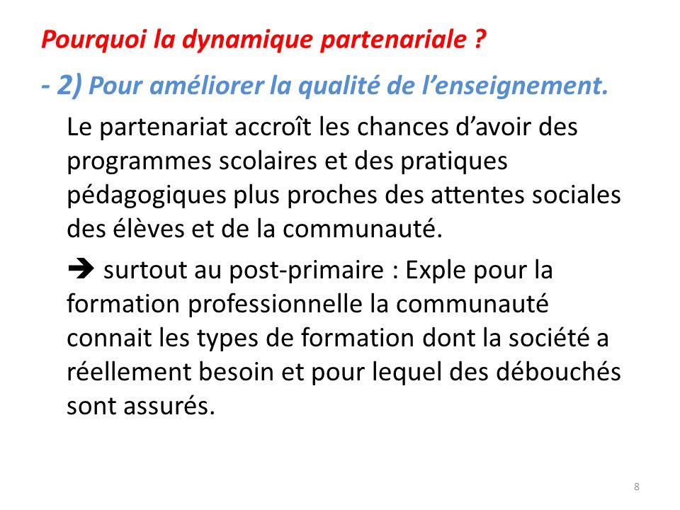 Pourquoi la dynamique partenariale