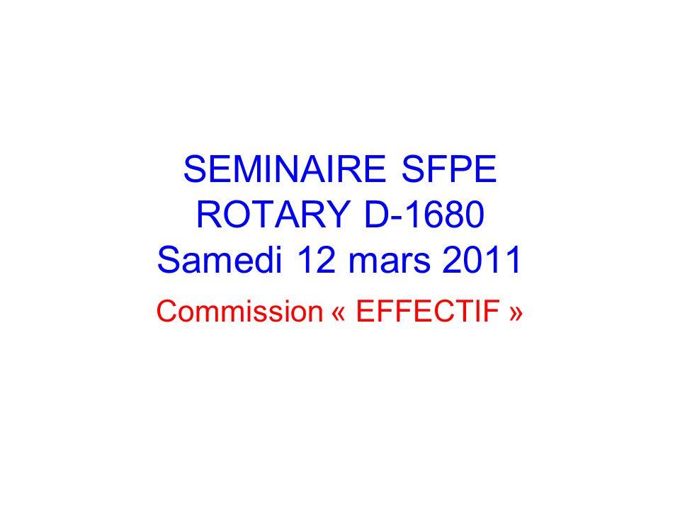 SEMINAIRE SFPE ROTARY D-1680 Samedi 12 mars 2011