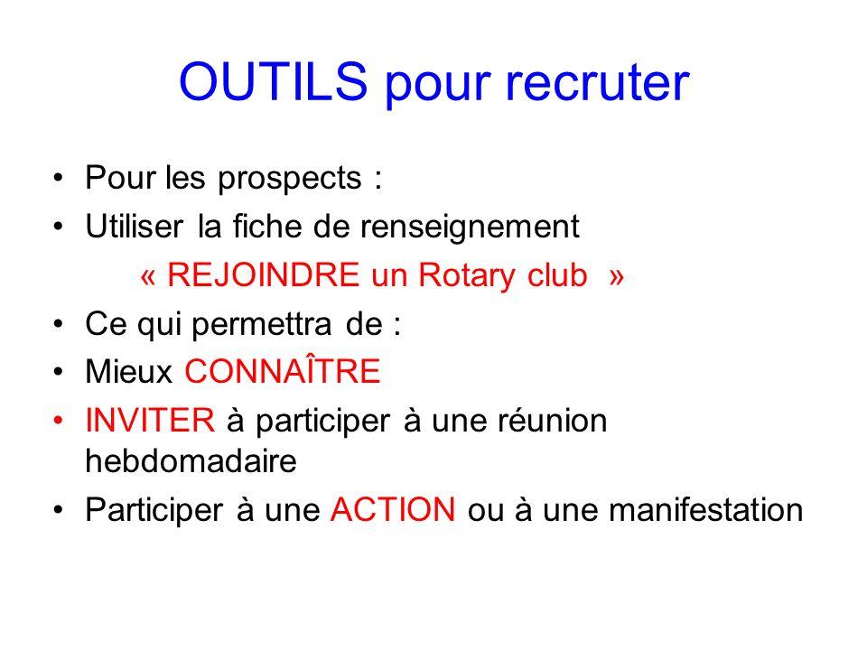 OUTILS pour recruter Pour les prospects :