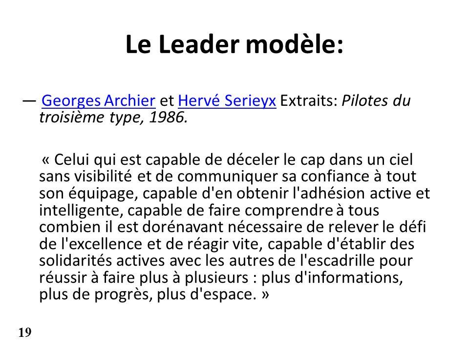 Le Leader modèle: