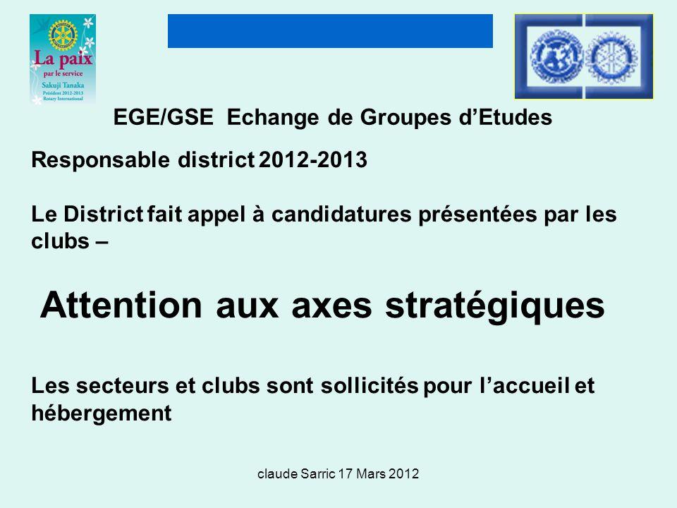 EGE/GSE Echange de Groupes d'Etudes