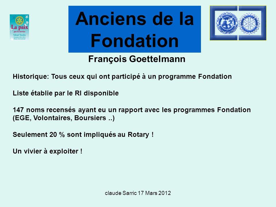 Anciens de la Fondation