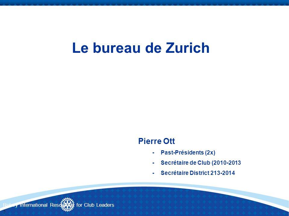 Le bureau de Zurich Pierre Ott - Past-Présidents (2x)