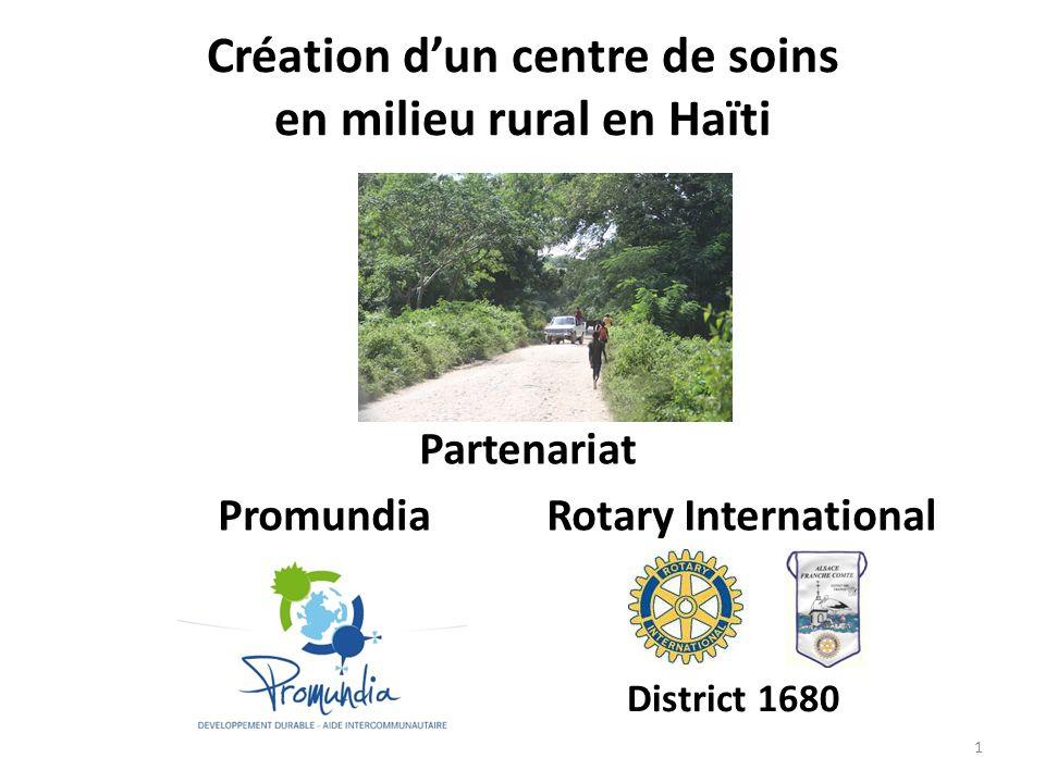 Création d'un centre de soins en milieu rural en Haïti
