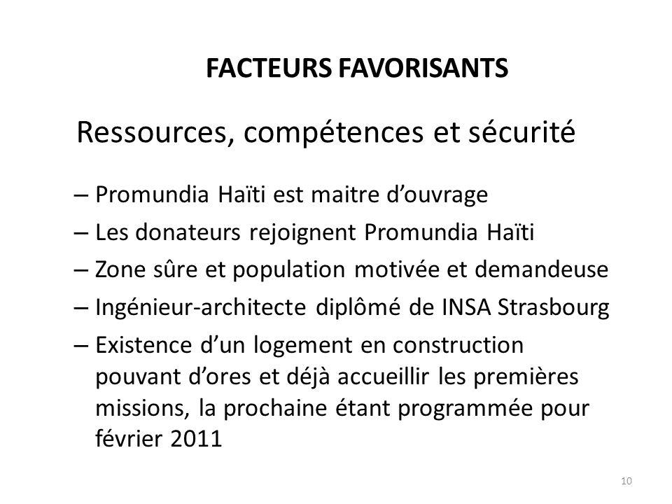 Ressources, compétences et sécurité