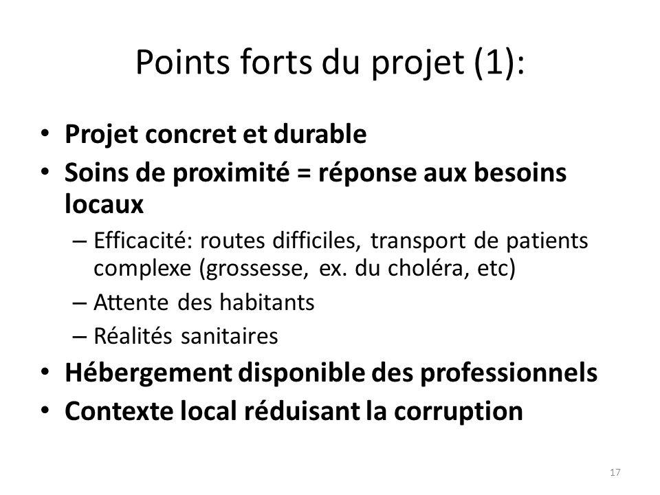 Points forts du projet (1):