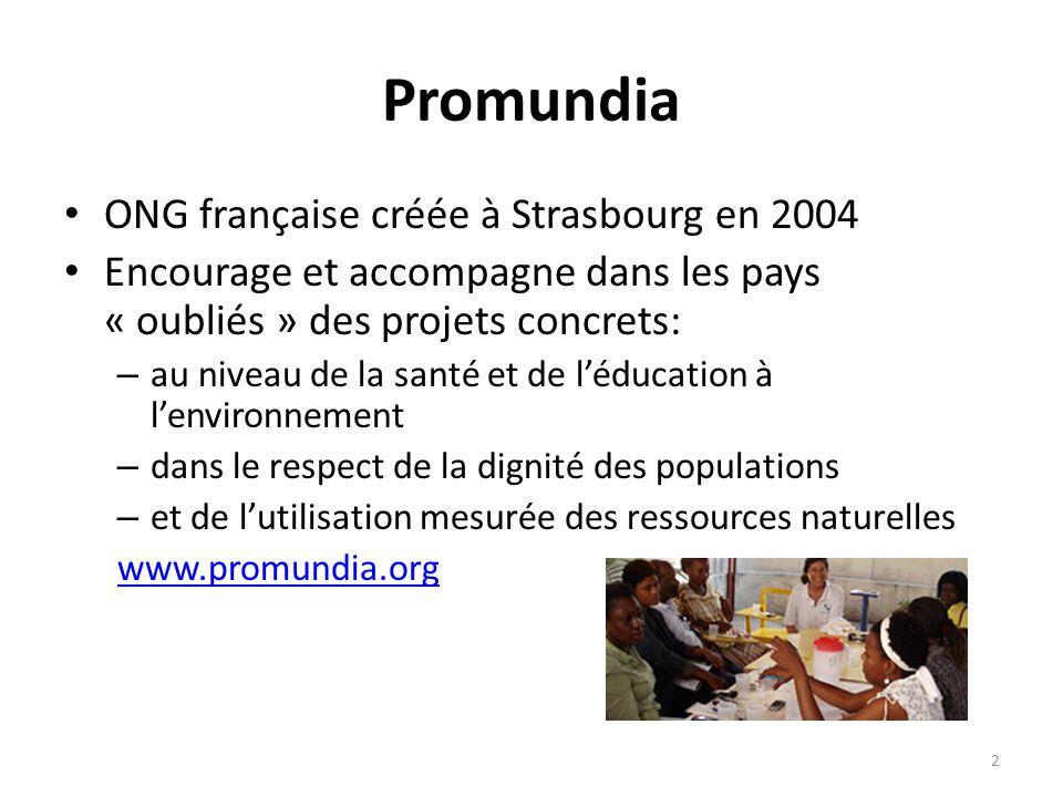 Promundia ONG française créée à Strasbourg en 2004