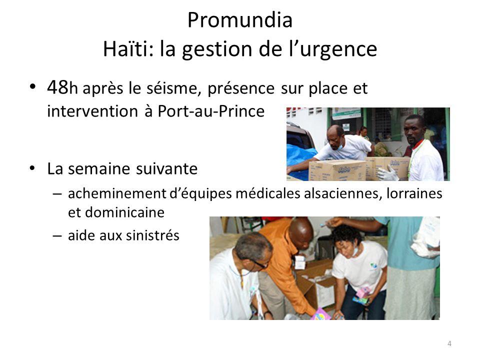 Promundia Haïti: la gestion de l'urgence