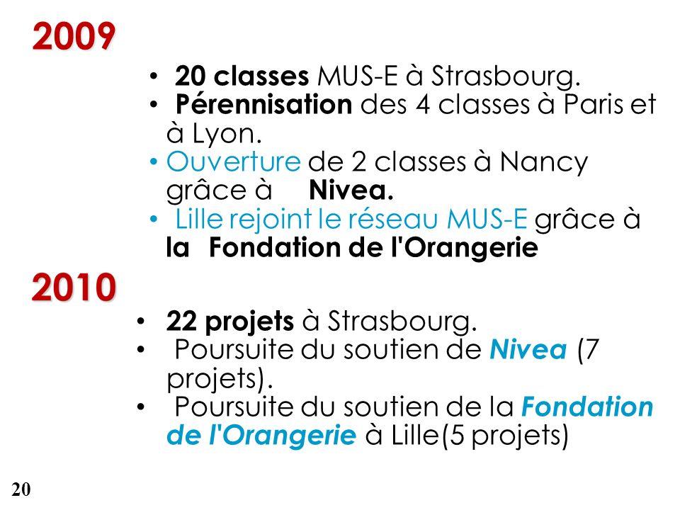 2009 20 classes MUS-E à Strasbourg.