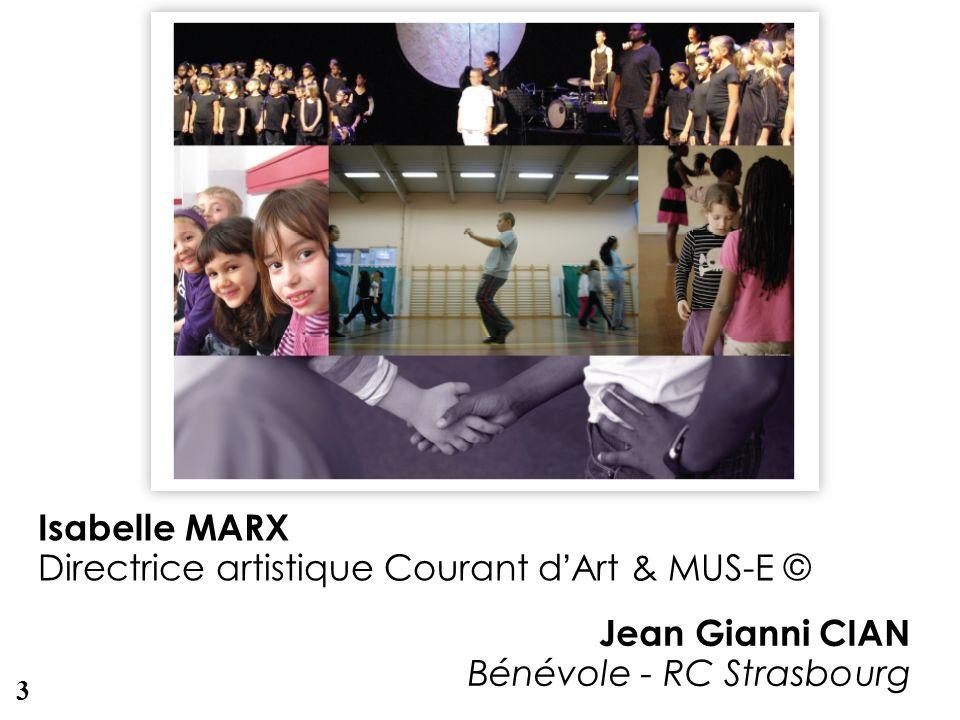 Directrice artistique Courant d'Art & MUS-E ©