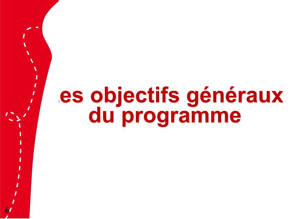 Les objectifs généraux du programme